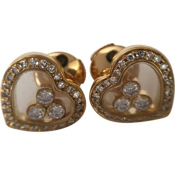 Happy diamonds yellow gold earrings CHOPARD Yellow