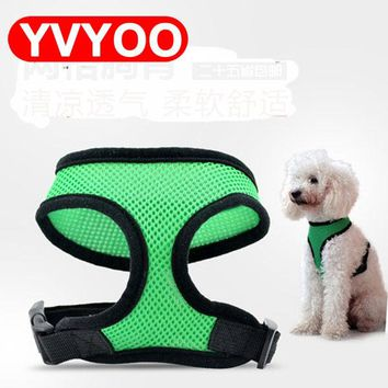 Free Shipping Adjustable Breathable Vest Collars Chain Puppy Cat Pet dog Harness Leash Lead Set Dog Chest Straps Accessories