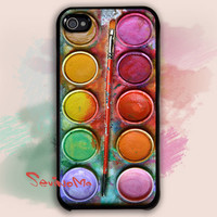 iPhone 4 Case,  Watercolor painting Box, palette Design iphone hard case, iphone case