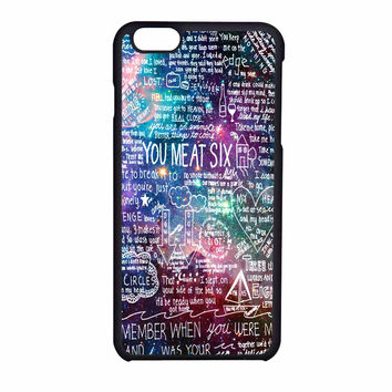 You Me At Six Quote All Time Low Galaxy iPhone 6 Case