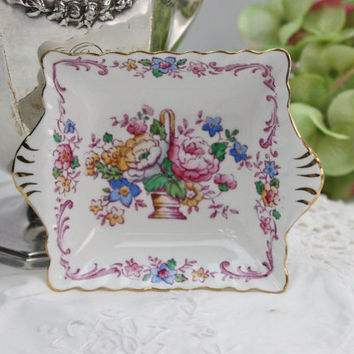 Crown Staffordshire China Dish / English Bone China / Floral / Home Decor