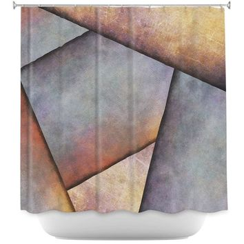 Shower Curtains By Sylvia Cook Abstract Brown Grey