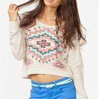 A'GACI Aztec Diamond Sweatshirt - TOPS