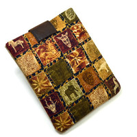 Handcrafted Tablet Case from Ethnic/Tribal  Fabric /  Case for iPad,  Kindle Fire HD, Google Nexus , Samsung Galaxy Tab