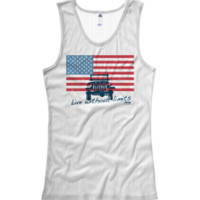 "Jeep ""American Flag / Live without Limits"" Ladies+Juniors Tank Top"