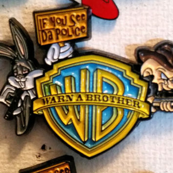 warner brothers warn a brother hat pin