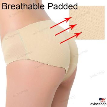 New seamless butt lifter padded panty hip up push up enhancer underwear big buttpad panties