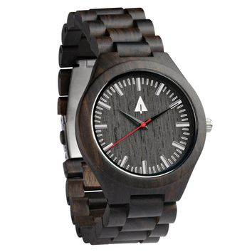 All Wood Watch // All Ebony Theo Red