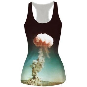 womens atomic bomb slim tank top sports vest for summer free shipping  number 1