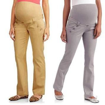 Maternity Pregnant Women Elastic Tummy Band Pants