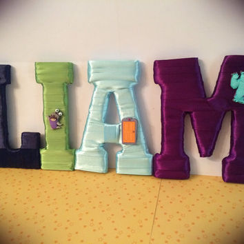 Handcrafted Custom Made Letter Set-Monsters Inc. by Tightly Wound Designs