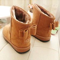 Fashion new arrival women boots winter snow boots fashion Warm Ladies bowtie snow women boots snow shoes