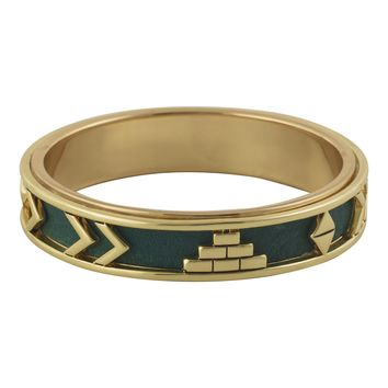 House of Harlow 1960 Jewelry Aztec Bangle with Juniper Leather