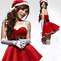 Christmas Clothes New Christmas Costume Sexy Lingerie Uniform Temptation Fantasy for Halloween Gifts  HD113-8Z