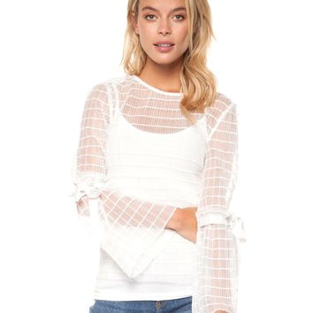 Sheer Genius Top - White by Dex Black Tape
