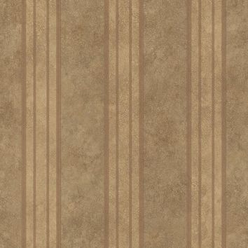 Brewster Wallpaper ARS26075 Giovanni Brown Tuscan Alternating Stripe