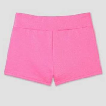 Freestyle By Danskin Girls' Activewear Shorts Bright Pink - L