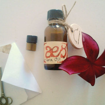 Libra Oil: Balanced Floral with Green Herbs,  One Full Ounce Natural Perfumed Oil Inspired by the Planetary, Elemental, Herb Lore of Libra