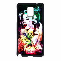 Marilyn Monroe Tattooed Flower With Pistol Gun Collage Samsung Galaxy Note 4 Case
