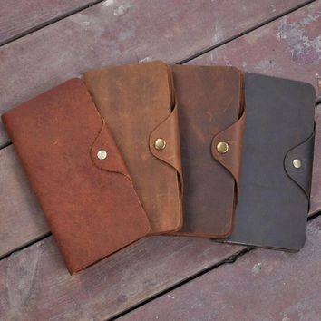 handmade genuine leather card wallet purse cool gift 41 2