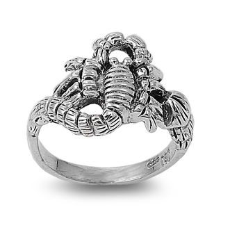 925 Sterling Silver Scorpion King 15MM Ring