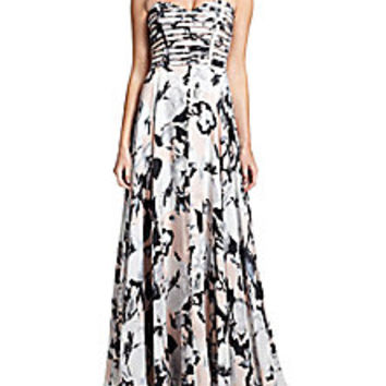 Parker - Parker Black Tamara Floral Silk Gown - Saks Fifth Avenue Mobile