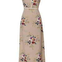 Cupshe Bright Precious Floral Halter Dress