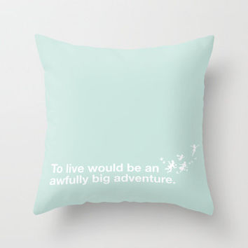 Peter Pan - Mint Throw Pillow by SamAnne   Society6