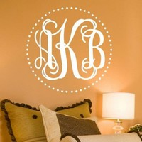 Fancy Dot Interlock Monogram Wall Decal