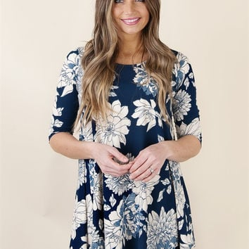 Carefree Floral Tunic