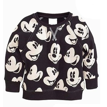 2017 Spring New Arrival Baby Girls boys girls terry sweater cartoon long sleeve T-shirt jerseys baby kids clothes