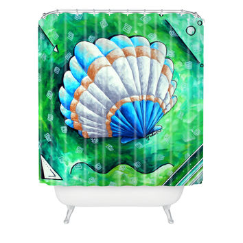 Madart Inc. Sea of Whimsy Sea Scallop 1 Shower Curtain