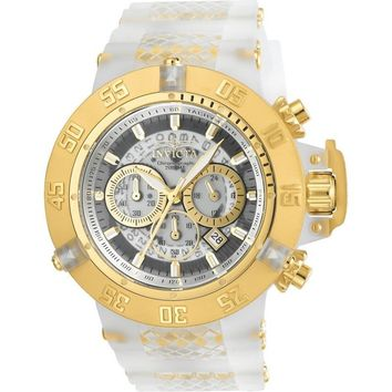 Invicta Men's 24361 Subaqua Quartz Multifunction White, Transparent Dial Watch