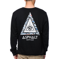 Asphalt Yacht Club Triangle Eye Black Crew Neck Sweatshirt at Zumiez : PDP