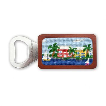 Island Time Needlepoint Bottle Opener by Smathers & Branson