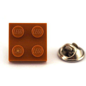 Light brown Tie Pin made with LEGO® bricks, Tie Tack Pin, Men's Tie Tacks, Tie Tac, Silver Tie Clip, Tie Clips Men, Wedding Clip, Tie Tack