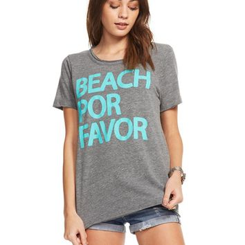 Chaser Beach Por Favor Tee in Streaky Grey | Boutique To You