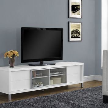 "White Hollow-Core 70""L Euro Tv Console"