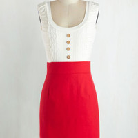 Mid-length Tank top (2 thick straps) Twofer Come in Dandy Dress in Red