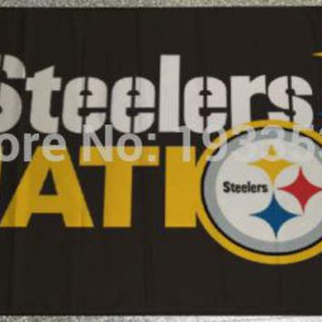 PITTSBURGH STEELERS Large Flag 3x5 Banner Steelers Nation flag