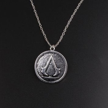 Movie Series Assassins Creed Torque Zinc Alloy Necklace Pendant Chain Men Women Jewelry Gifts Accessories