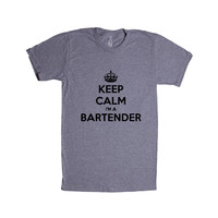 Keep Calm I'm A Bartender Bar Tending Job Jobs Alcohol Drinks Drinking Beer Vodka Parties Party Partying SGAL2 Unisex T Shirt