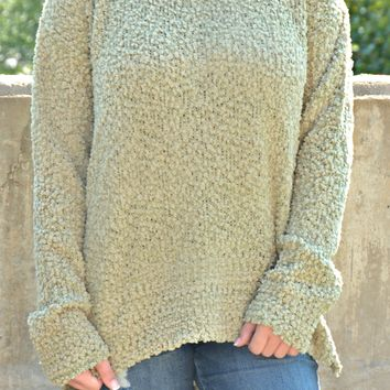 Waiting For You Sweater - Light Olive