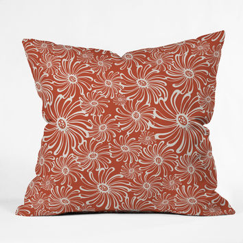 Heather Dutton Bursting Bloom Spice Outdoor Throw Pillow