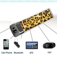 FOM Lip Gloss 2500mAh Universal Mobile USB Portable Power Bank Charger-Leopard