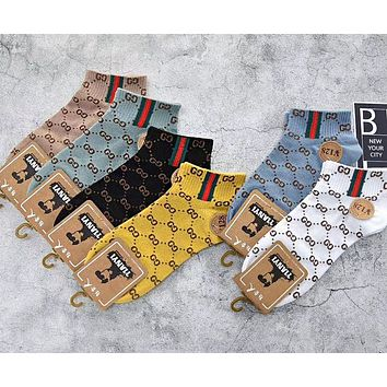 LV Louis Vuitton Gucci Hot Sale Women Men Casual Breathable Pure Cotton Sport Socks