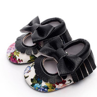 Bloom- Mary Jane Baby Moccs