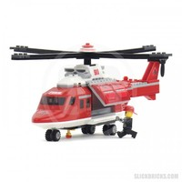 Fire Rescue Helicopter - Lego Compatible Set