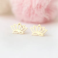 Lotus Earrings in gold
