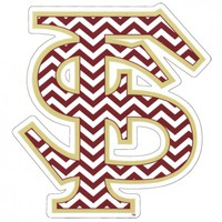 FSU Apparel, Merchandise and Florida State Shirts Chevron FS Auto Decal